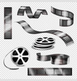 realistic photographic strips and film reels vector image vector image