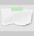 rectangular ragged paper wisp with soft shadow vector image vector image