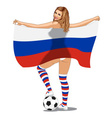 Russia Football Fan vector image vector image