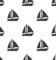 sail boat seamless pattern vector image vector image