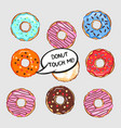 set of colored donuts vector image