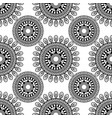 siamless pattern sentagle isolate vector image vector image