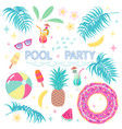 summer design elements for pool party vector image