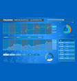trading infographic elements vector image vector image