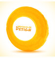 watercolor yellow circle frame in perspective vector image