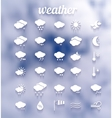 weather icon set eps10 vector image