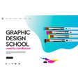 web page design template for graphic design vector image vector image