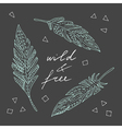 Wild and free vector image vector image