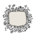 Floral frame sketch for your design vector image