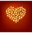 Heart of gold bubbles Valentines Day vector image