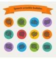 Speech black doodle scrabble bubbles vector image