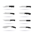 Combat knife set vector image