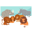 safari animal characters cartoon vector image