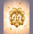 44th year anniversary background vector image vector image