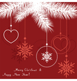 abstract christmas decoration vector image vector image