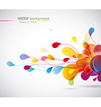 abstract colored background with circles vector image vector image