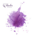 abstract isolated purple watercolor drops splash vector image
