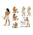 ancient egypt ceramists at work egyptian ceramics vector image vector image