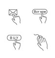 app buttons linear icons set vector image vector image