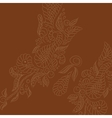 background Brown buttrefly vector image vector image