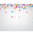 Background with color confetti vector image