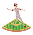 baseball player cartoon vector image