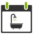 Bath Calendar Day Flat Icon vector image vector image