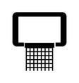 black icon basketball hoop vector image vector image