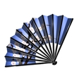 blue fan and blossom vector image vector image