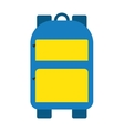 Blue school bag icon vector image