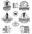 Bodybuilding emblems vector image vector image