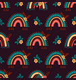boho rainbow pattern abstract rainbow background vector image vector image