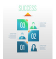 business concept up to success number vector image