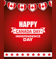 canada happy day celebration poster vector image vector image