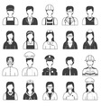 Career People and Occupation Icons Set vector image vector image