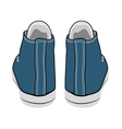 cartoon blue sneakers vector image vector image