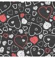 chalkboard art hearts seamless pattern background vector image