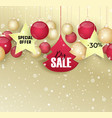 christmas sale xmas background with christmas vector image vector image