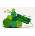 christmas wool tree vector image