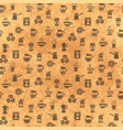 coffee seamless pattern background with icons vector image vector image