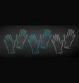 color chalk drawn set rubber gloves vector image