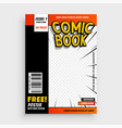 comic magazine book cover layout design vector image vector image