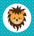 cute lion head tender character vector image