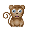 cute monkey character vector image