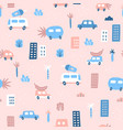 cute pink seamless pattern vector image