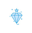 diamond icon design vector image