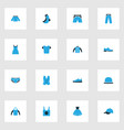 dress colorful icons set collection of vest vector image vector image