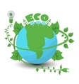 Ecology Flat Composition vector image vector image