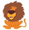 funny lion cartoon animal character vector image vector image