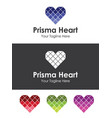glass heart love logo best for your branding vector image